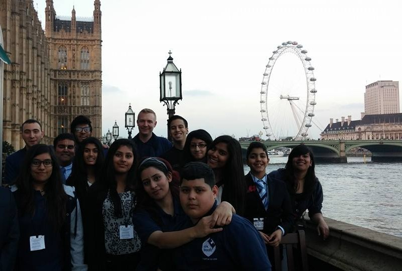 Photo of the young founders of Slough Young Carers at the House of Commons (2014)